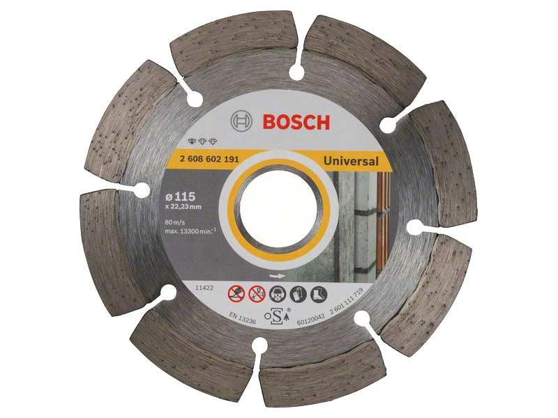Diamantový řezný kotouč Bosch Professional for Universal 115×22,23 mm