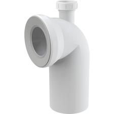 Připojení Alcaplast A90 k WC s průměrem DN40, koleno 90°
