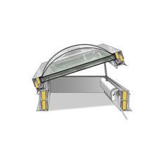 Motor DEKLIGHT na elektrické ovládání, určen pro výlez na střechu, zdvih solo 350 mm