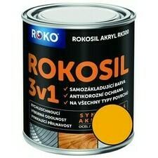 Barva samozákladující Rokosil akryl 3v1 RK 300 žlutá ch. 0,6 l