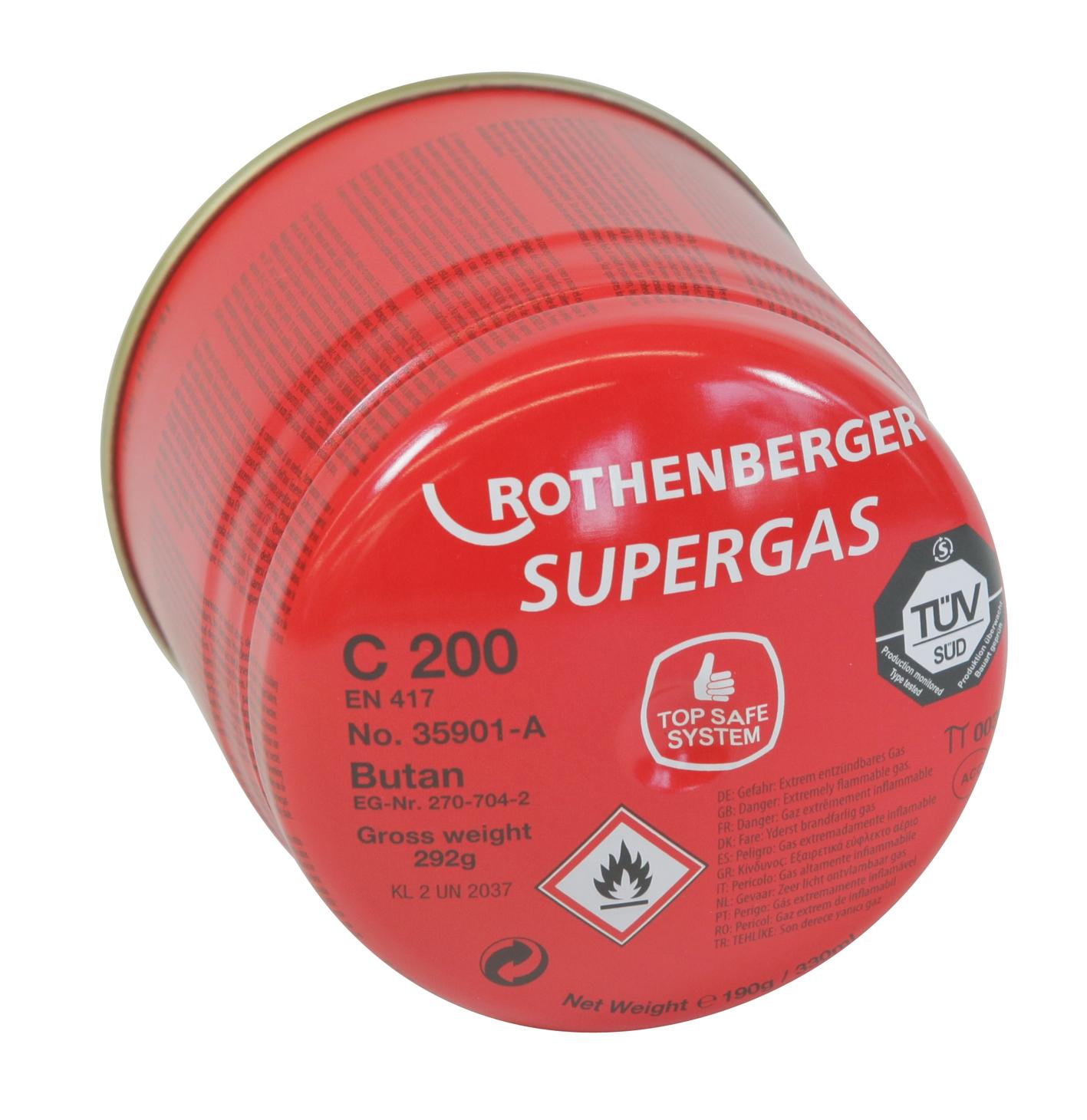 Kartuše plynová Rothenberger SUPERGAS C200