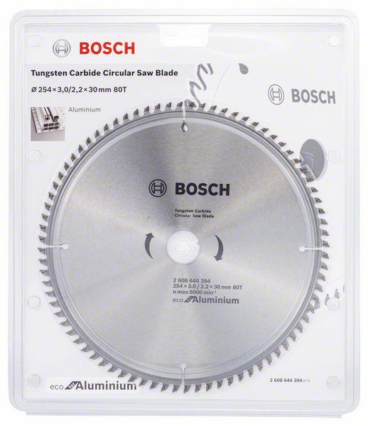 Kotouč pilový Bosch Eco for Aluminium 254×30×2,2 mm 80 z.