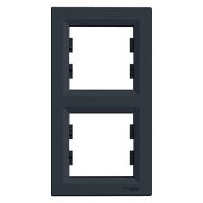Rámeček Schneider Asfora dvojnásobný vertikální antracit