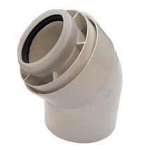 Koleno koaxiální PPs/Al 60/100 45°