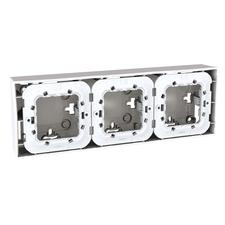 Krabice nástěnná Schneider Unica, polar, trojnásobná