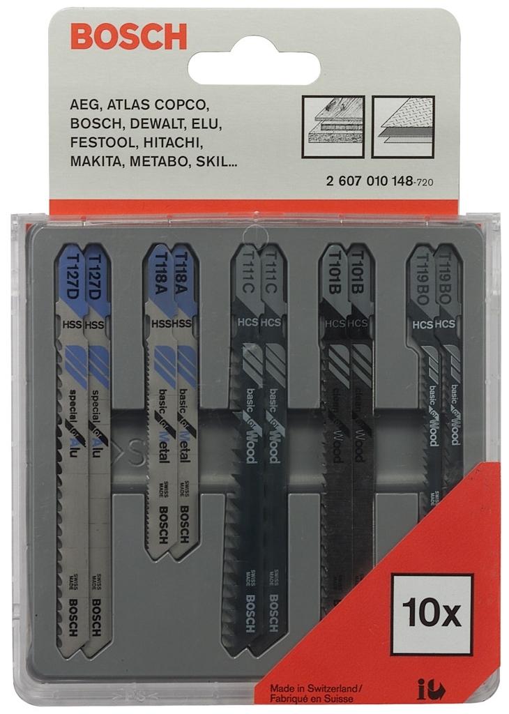 Sada pilových plátků Bosch Wood and Metal 10 ks