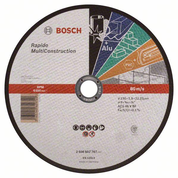 Kotouč řezný korundový Bosch Rapido Multi Construction 230×22,23×1,9 mm