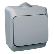 Přepínač střídavý Schneider Cedar, šedá, IP 44, 6