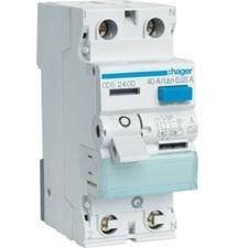 Chránič proudový bezšroubový Hager CDS240D 6 kA 2pól 40 A