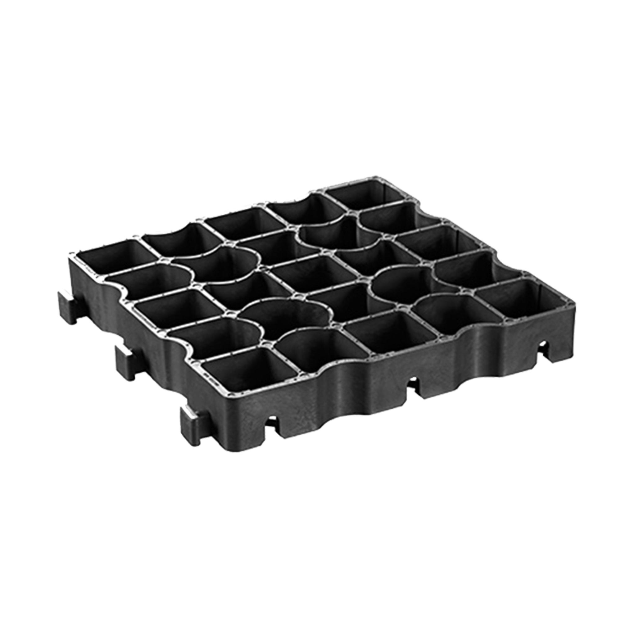 Tvárnice zatravňovací ECORASTER E 50 plastová černá 330×330×50 mm
