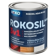 Barva samozákladující Rokosil Aqua 3v1 RK 612 sv. červená, 0,6 l