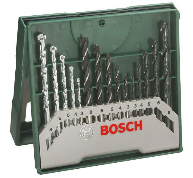 Minisada vrtáků Bosch X-Line (15 ks/sada)
