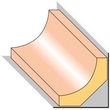 Lišta stropní S1 smrk nastavený 25×25×2000 mm, 25 ks/bal