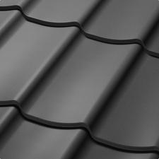 Velkoformátová profilovaná plechová střešní krytina SATJAM TREND SP25 RAL 7024 grafitová šeď