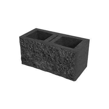 Tvárnice plotová štípaná DITON A jednostranná s fazetou černá