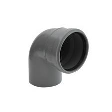 HTB koleno s hrdlem pro odpadní potrubí, DN 100, úhel 87°