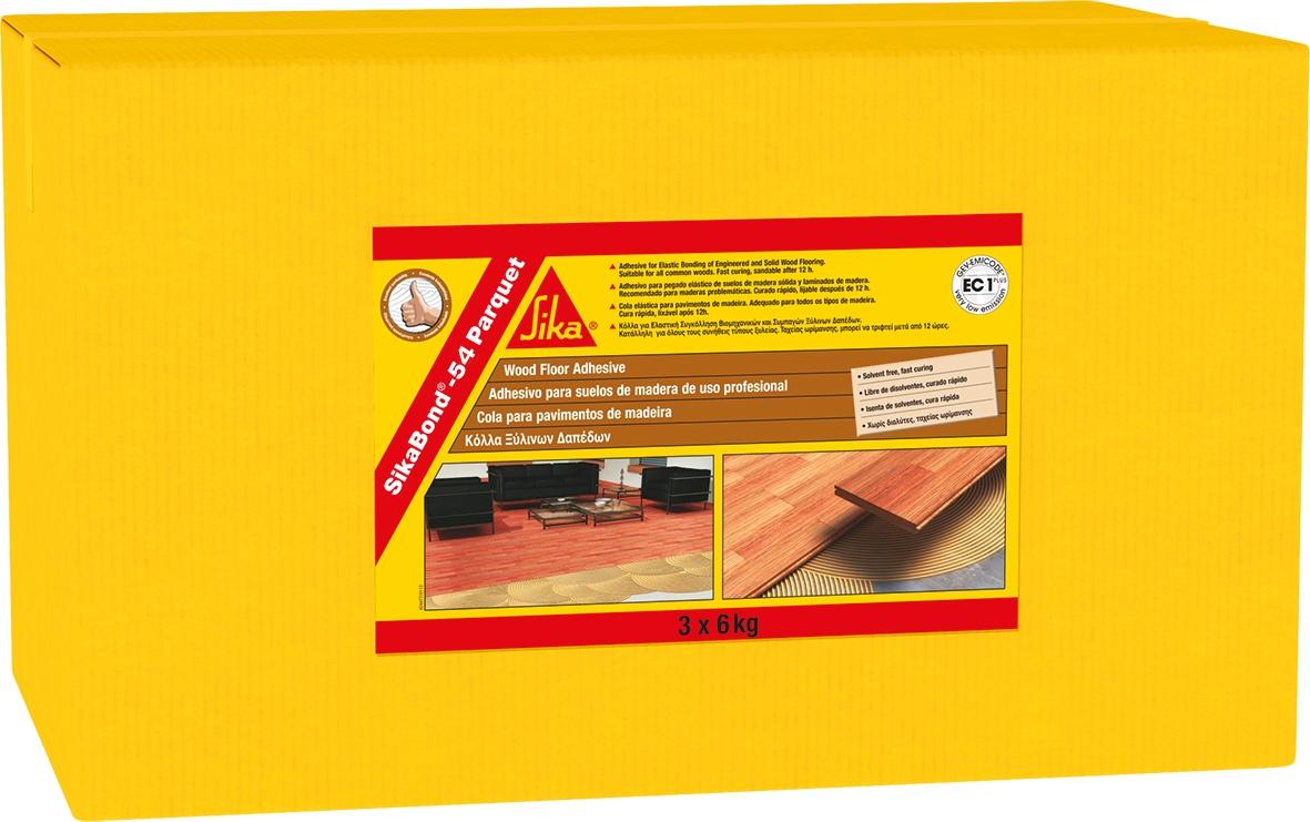 PU lepidlo na podlahy Sikabond-54 Parquet 18k g (belno 3 ks po 6ti kg)
