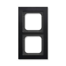 Rámeček ABB Busch-axcent dvojnásobný černá matná