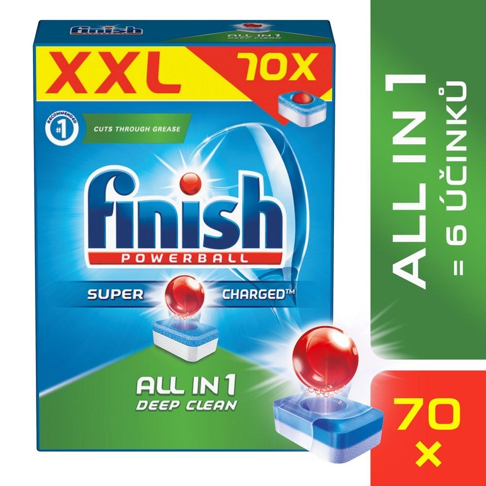 Tablety do myčky FINISH All-in-1 70 ks, cena za ks