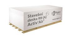Deska sádrokartonová Rigips RB (A) Activ' Air 12,5×1250×2000 mm