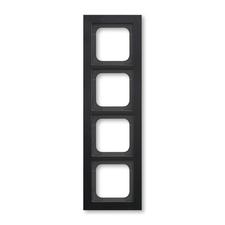Rámeček ABB Busch-axcent čtyřnásobný černá matná