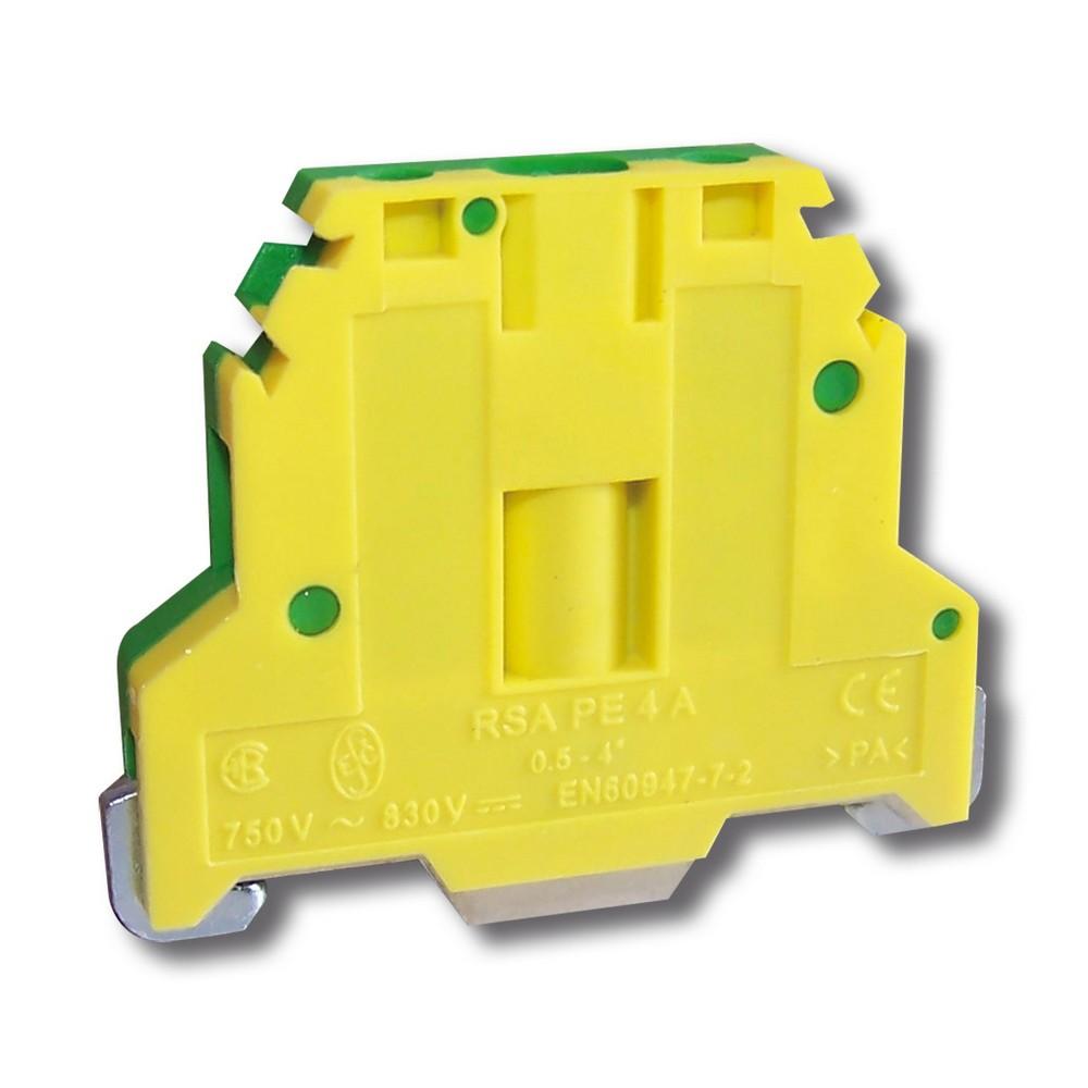 Svorka řadová RSA PE 4 A zelenonžlutá, cena za ks