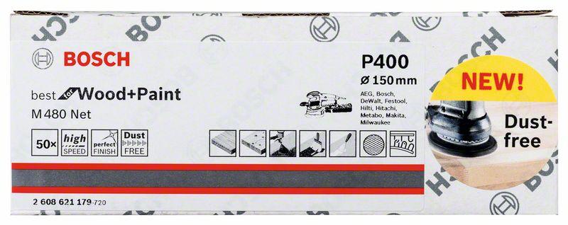 Mřížka brusná Bosch M480 Best for Wood and Paint 150 mm 400