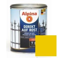 Lak na kov Alpina Direkt A Rost 2,5 l lesk žlutá RAL1021