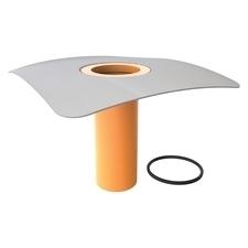 Nástavec v500 PVC pro svislou i vodorovnou střešní vpusť s PVC límcem