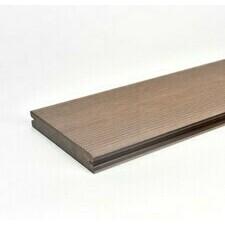 Prkno terasové dřevoplastové Twinson Massive odstín lískový ořech 140x20×6000 mm