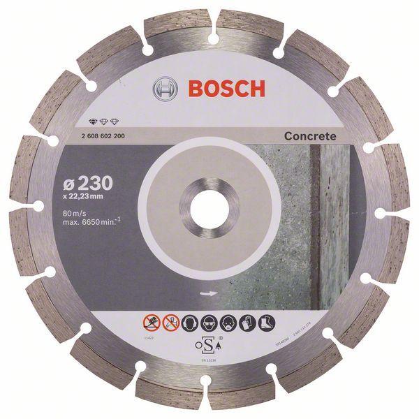 Diamantový řezný kotouč Bosch Professional for Concrete 230×22,23 mm