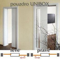 Dvojité dveřní pouzdro Norma UNIBOX do zdiva šířka 700+700mm