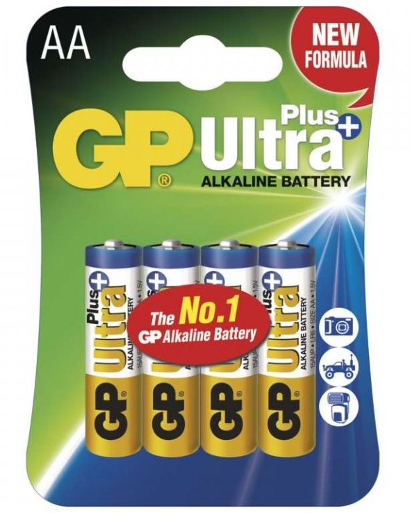 Baterie LR6 AA GP Ultra Plus 4 ks/bal