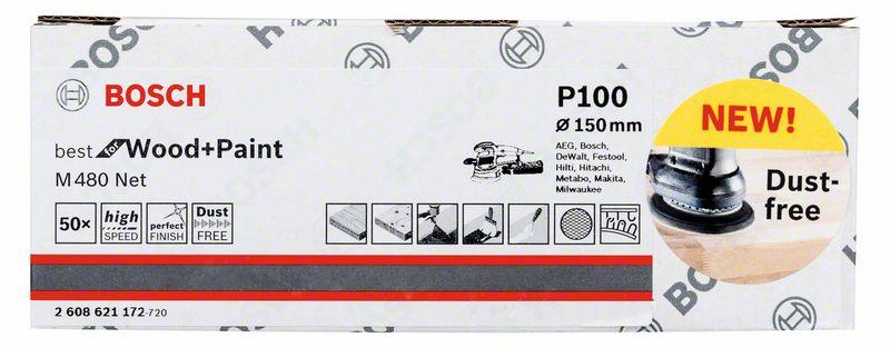 Mřížka brusná Bosch M480 Best for Wood and Paint 150 mm 100