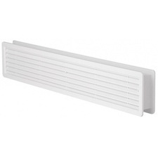 Mřížka větrací dveřní HACO VM D 500×90 mm bílá