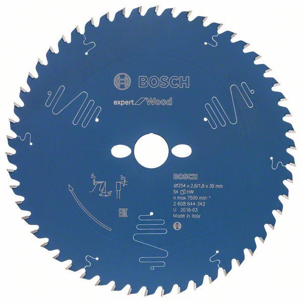 Kotouč pilový Bosch Expert for Wood 254×30×1,8 mm 54 z.