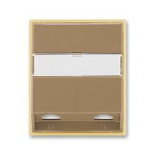 Kryt telefonní zásuvky s 2 otvory Element kávová / ledová opálová