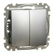 Přepínač sériový Schneider Sedna Design řazení 5 hliník leštěný