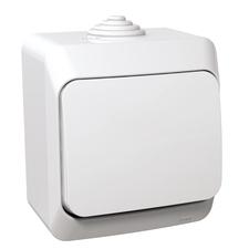 Přepínač střídavý Schneider Cedar, bílá, IP 44, 6
