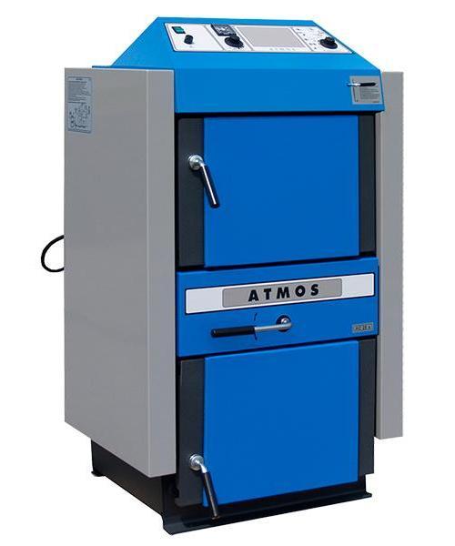 Zplynovací kotel na hnědouhelné brikety ATMOS AC 35 S Kombi
