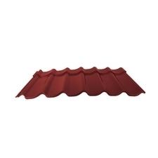 Velkoformátová profilovaná plechová střešní krytina MAXIDEK SP25 2R112 červenohnědá
