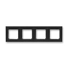 Rámeček Levit, vodorovná i svislá montáž onyx/kouřová černá