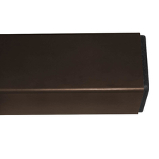 Nosník poplastovaný DŘEVOplus barva hnědá 50×30 mm 2,5 m řez
