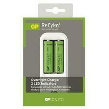 Nabíječka baterií GP ReCyko PB410+2×AA baterie 1300 mAh