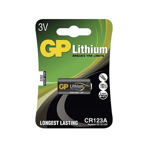 Baterie CR123A, GP Lithium