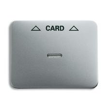 Kryt spínače kartového Alpha, čirý průzor, potisk, titanová