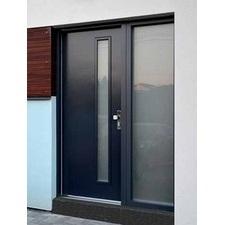 Dveře plastové vstupní WINDEK PVC CLIMA STAR 82 1400/2100 mm antracit/bílá
