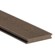 Prkno terasové dřevoplastové WPC PERI plné odstín chocolate 140×20×2900 mm