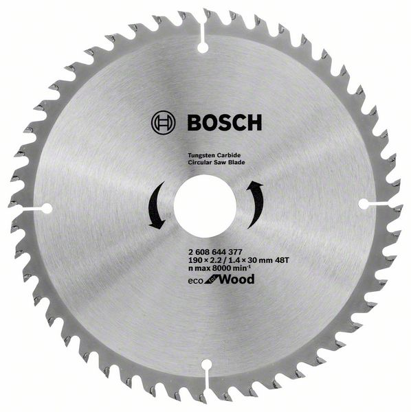 Kotouč pilový Bosch Eco for Wood 190×30×1,4 mm 48 z. 10 ks
