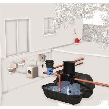 Sestava nádrže na dešťovou vodu Roth Haustechnik II 3 500 l